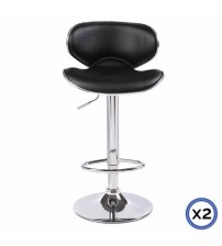 Faux Leather Chrome Base Gas Lift Bar Stool Bela