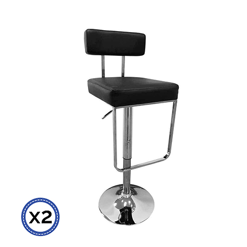 Faux Leather Chrome Base Gas Lift Bar Stool Celo