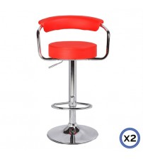 Faux Leather Chrome Base Gas Lift Bar Stool Gina