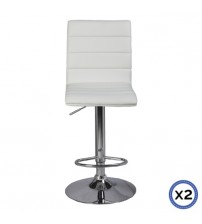 Faux Leather Chrome Base Gas Lift Bar Stool Tara