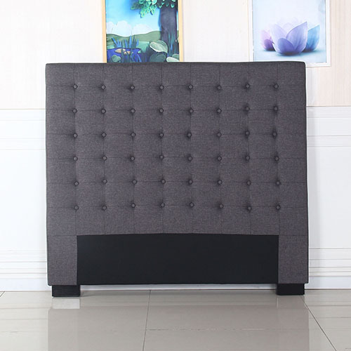 Exclusive Cilantro Fabric Double Charcoal Bed Headboard