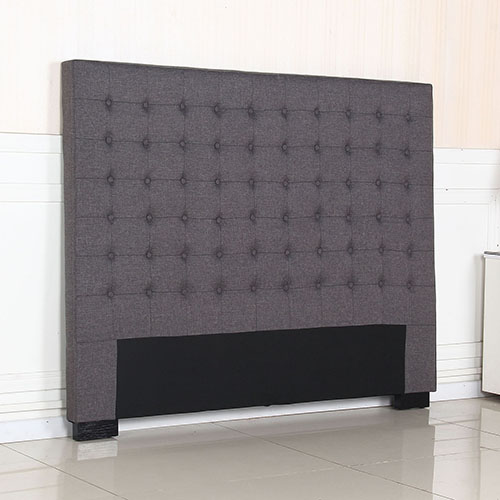 Exclusive Cilantro Fabric Queen Charcoal Bed Headboard