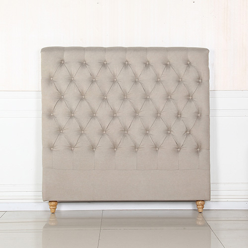 Sean Fabric Double Beige Bed Headboard