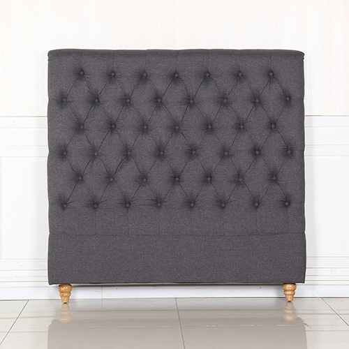 Sean Fabric Double Charcoal Bed Headboard
