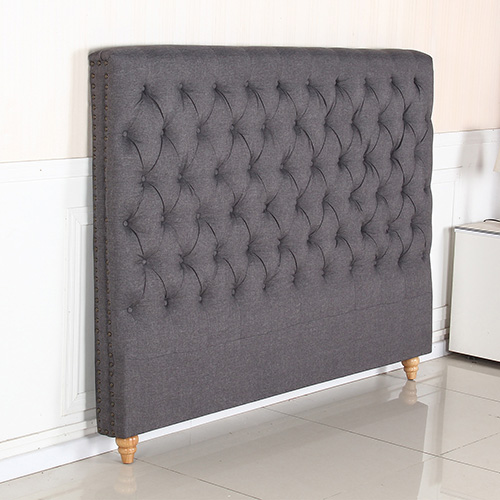 Sean Fabric King Charcoal Bed Headboard