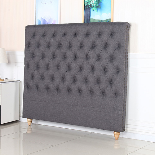 Sean Fabric Queen Charcoal Bed Headboard