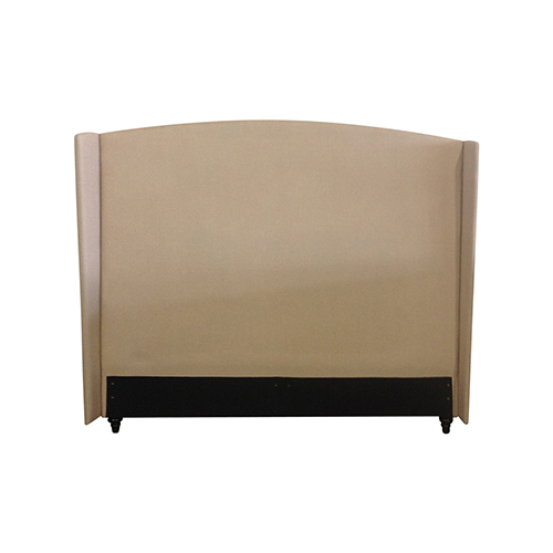 Venus Fabric Upholstered Queen Beige Bed Headboard
