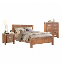 Matrix Queen Bed Brushed Walnut Bedroom Suite