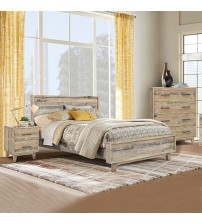 Woodstock Queen Bed Wood Nature Bedroom Suite
