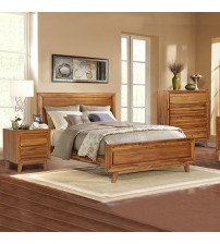 York Queen Bed Euro Walnut Bedroom Suite