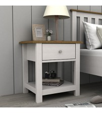 Abelina Mellow White Bedside Table