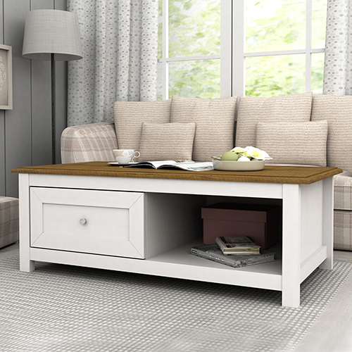 Abelina Mellow White Coffee Table