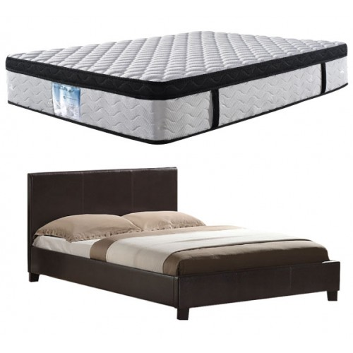 Mondeo Bed with Latex Eurotop Roll Mattress