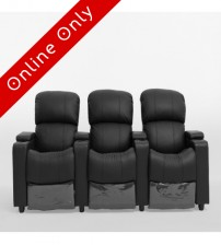 Sophie 3 seater Theatre Lounge Push Back Recliner