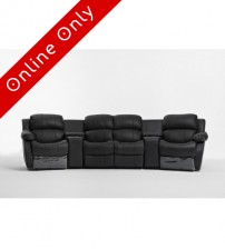 Nikki 4seater Home Theatre Entertainment Lounge Suite with 4 Recliner 1 left arm chair