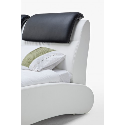 CF 8248 Leatherette Bed in Unique Curvature Style