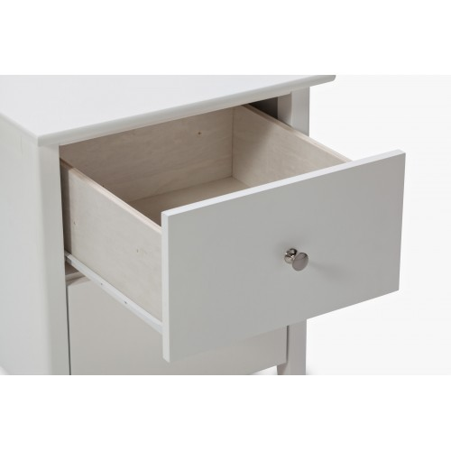 Welton White Night Stand Melbournians Furniture