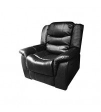 Alan Black 1 Seater Recliner Couch