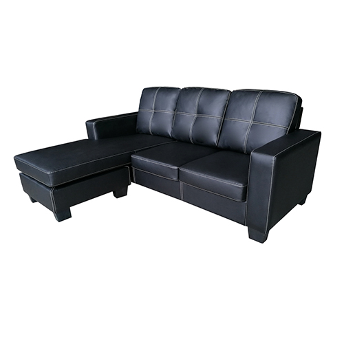 modern nowra sofa black with chaise melbournians furniture