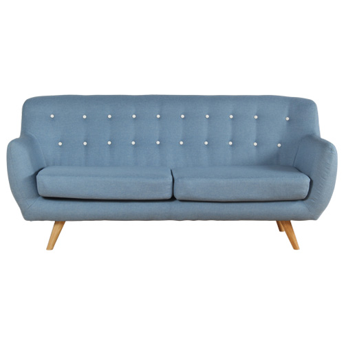 Sixty Light Blue Sofa With Fabric Cover Melbournians