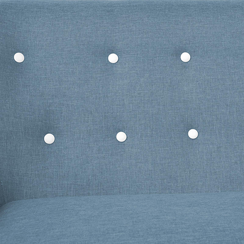 Sixty Light Blue Sofa with Fabric Cover