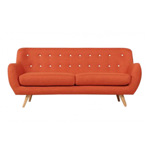 Sixty Orange Sofa with Fabric Cover