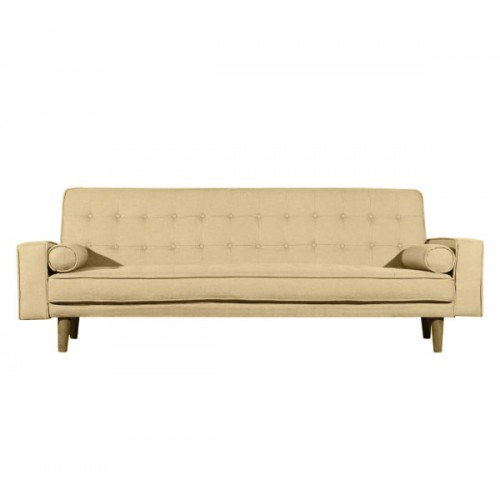 Modern Marcella Beige Sofa Bed 3 Seater