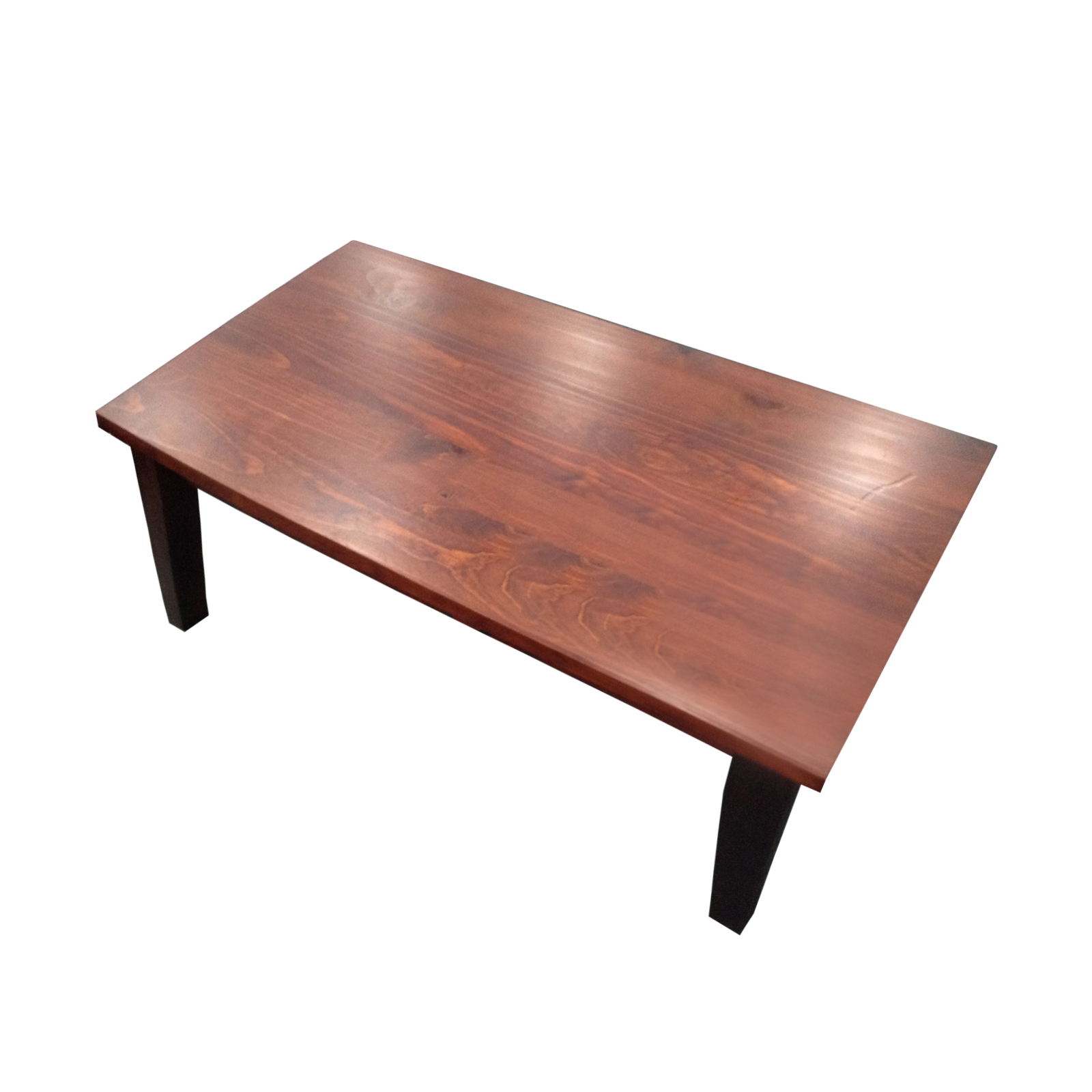 Modern coffee table pine frame brown wooden leg vintage for Coffee tables ebay australia
