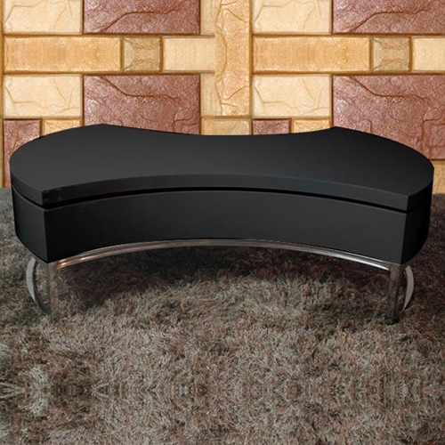 New Stylish Black Coffee Table High Gloss Swivel Top Smart