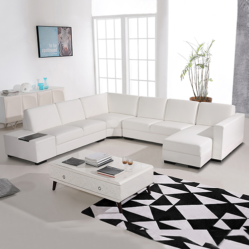New modern 6 seater diva lounge suite white leather for Sectional sofa 6 seater
