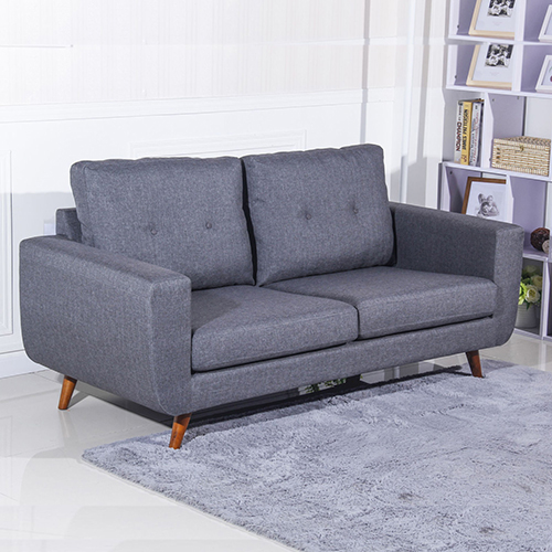 New Modern 2 5 Seater Sofa Charcoal Tufted Buttons Solid