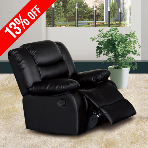 Recliner Sofa with Bonded Leather Couch Dream-1R