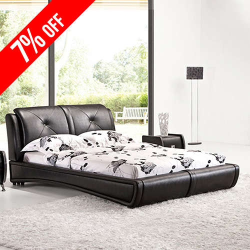 Grande PU Leather King Bed