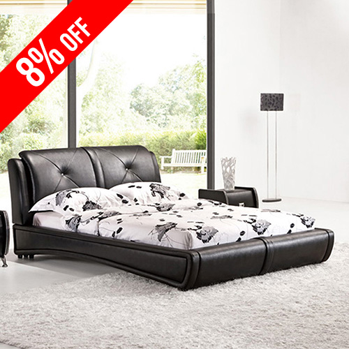Grande PU Leather Queen Bed