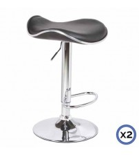 Faux Leather Chrome Base Gas Lift Bar Stool Dora