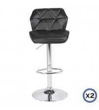 Faux Leather Chrome Base Gas Lift Bar Stool Jena