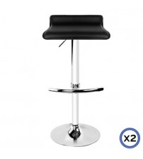 Faux Leather Chrome Base Gas Lift Bar Stool Mika
