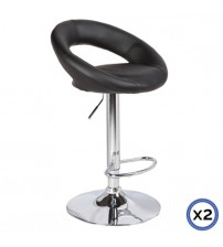 Faux Leather Chrome Base Gas Lift Bar Stool Rio