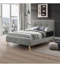 Albert Light Grey Queen Bed