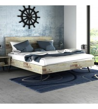Altona Acacia Wood Queen Bed Frame