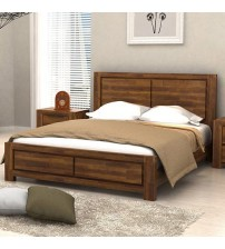 Aston Caramel Colour Queen Bed Frame