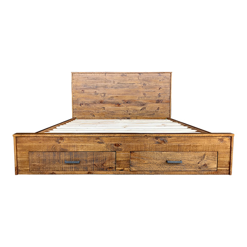 Cob&Co Bed With Storage Drawer Rustic Colour