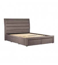 Megan Beige Colour Queen Bed