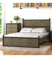 Nouva Boutique Grey Queen Bed Frame