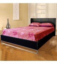 Prado Wood like MDF Bed in High Gloss Finish