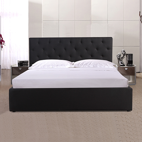 Rome Queen Black Gaslift Bed