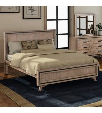 Seashore Silver Brush Queen Bed Frame