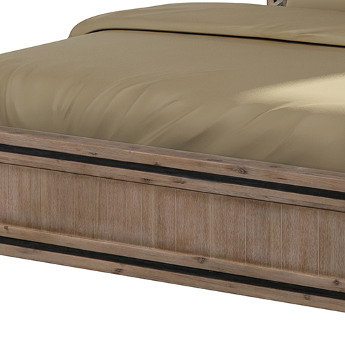 Buy Seashore Silver Brush Acacia Queen Bed Frame Online In