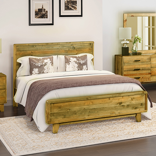 Queen Bed Frame.Woodstyle Light Brown Queen Bed Frame