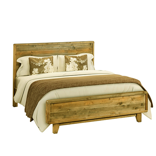 Woodstyle Light Brown 4 pcs Queen Bedroom Suite